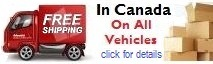 Free vehicle Shipping in Canada